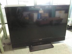 ブルーレイ&HDD内蔵液晶テレビ(14年製、三菱、50インチ)