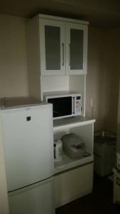 冷蔵庫(14年)三菱、洗濯機(14年)Haier、炊飯器、レンジ、ケトル、全て(14年製)1