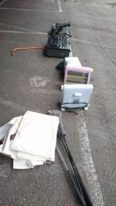 ガスコンロ 2013、ヒーター2013×2台、フードプロセッサー新品、着物三着