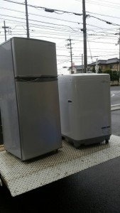 SHARP 洗濯機(2012年製,4.5kg)、冷蔵庫(2012年製,118L)
