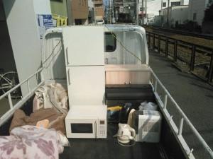 08年製、無印良品の冷蔵庫とレンジ、水槽一式及び水槽台、小家電3品