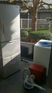 冷蔵庫、洗濯機2台 です。引取ました!