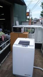 14年洗濯機・12年電子レンジ・水屋・進物 i