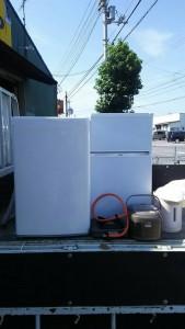14年式/冷蔵庫・洗濯機・美品ガスコンロ・電気ポット  i