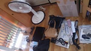 ホワイトゴールド指輪、ブランドバック・財布・腕時計・ブルーレイプレイヤー・扇風機・小物家電など k2