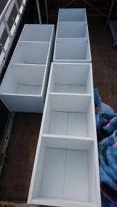 サイドボード、ガラステーブル、三段BOX3個(美品)